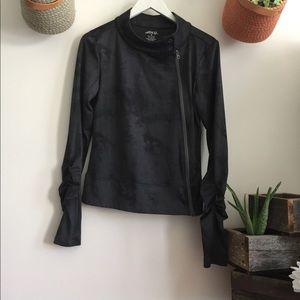 BCG Running Black Marble Print Jacket